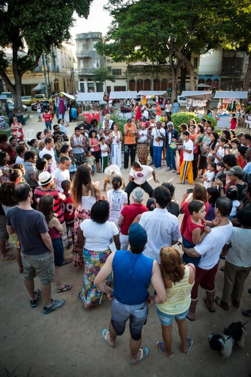 Roda de capoeira com Mestre Graúna foi uma das atrações da festa